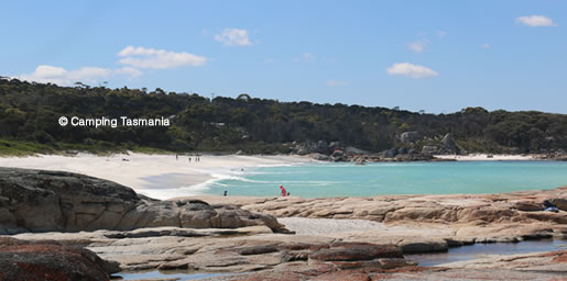 sloop reef camping bay of fires