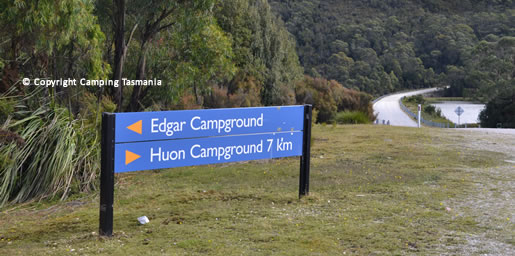 edgar dam campground lake pedder
