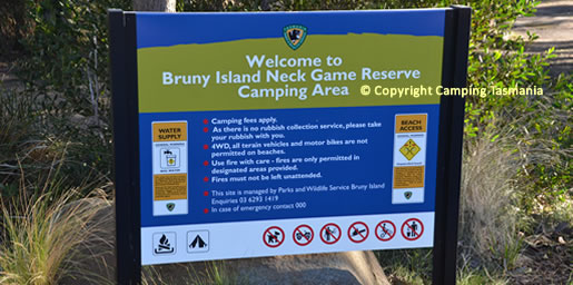 camping bruny island free