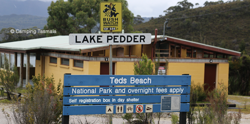 teds beach camping lake pedder